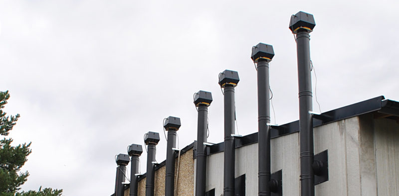 RSV røgsuger på række